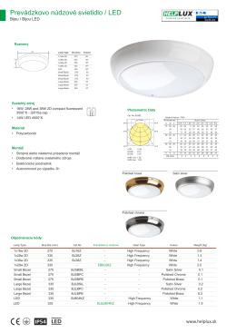 Prevádzkovo núdzové svietidlo / LED