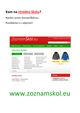 www.zoznamskol.eu