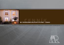 Predokenné roletové systémy – cenník bez DPH(pdf)