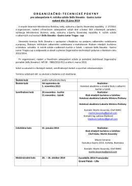 OTP GastroJunior 2013-2014