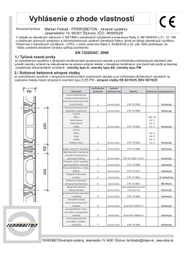 Marian Farkaš - FERROBETON - stropné systémy Jesenského 74