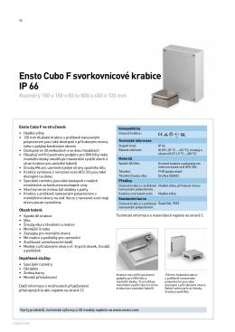 Ensto Cubo F svorkovnicové krabice IP 66