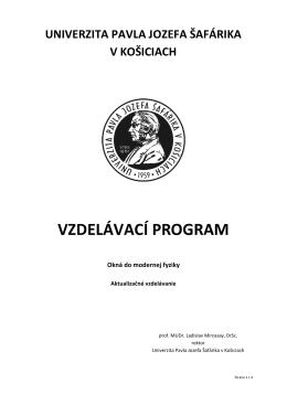 Okná do modernej fyziky - CCV UPJS