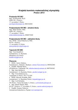 Zoznam členov Krajskej komisie MO
