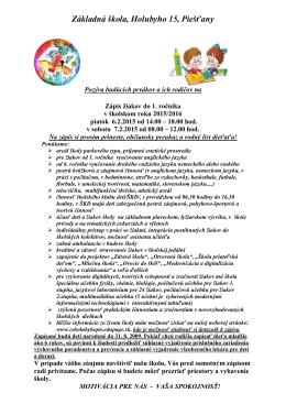 Základná škola, Holubyho 15, Piešťany