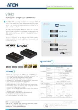 HDMI over Single Cat 5 Extender