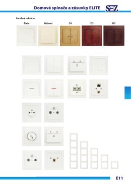 E11 Domové spínače a zásuvky ELITE