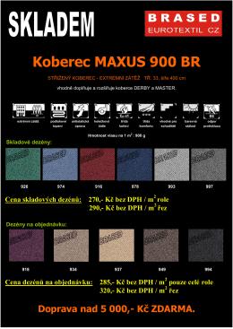 MAXUS - leták prodej