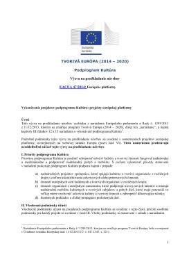 Culture Programme (2007 – 2013) - EACEA