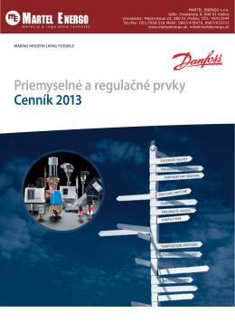 Priemyselné a regulačné prvky Cenník 2013