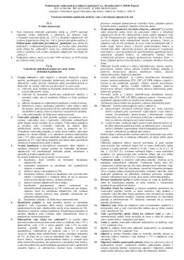 Všeobecné obchodné podmienky platné od 08.12.2014