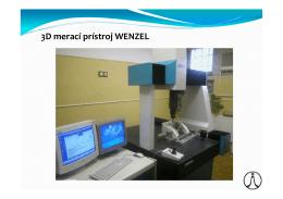 3D merací prístroj WENZEL