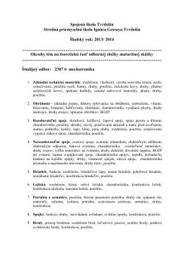 Spojená škola Tvrdošín Stredná priemyselná škola Ignáca Gessaya