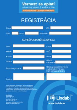 RegistRácia - vernostsaoplati.sk