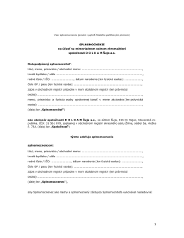 1.3(a) Vzor splnomocnenie SK MVZ