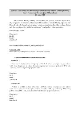 Hlasovanie per rollam - Súdna rada Slovenskej republiky