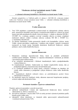 Všeobecne záväzné nariadenie mesta Vráble č. 10/2011