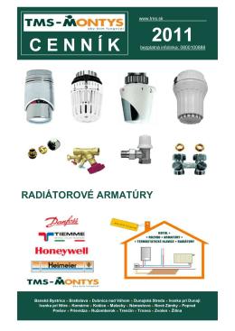 radiátorové armatúry - TMS