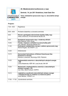 45. Medzinárodná konferencia o rope