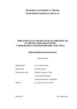 žilinská univerzita v žiline elektrotechnická fakulta