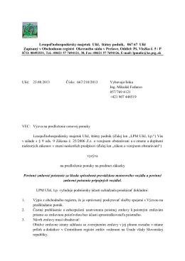 Lesopoľnohospodársky majetok Ulič, štátny podnik, 067