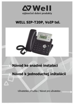 Kratky navod SIP-T20P