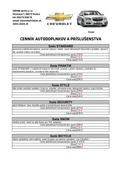 doplnky CRUZE.pdf - Chevrolet Košice
