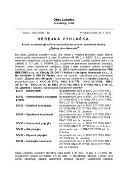 Bytový dom Akropola - Obecný úrad Ľubotice
