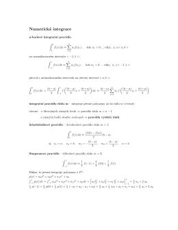 Numerická integrace v 1D