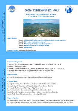 Konferencia s medzinárodnou účasťou 1. cirkulár a vyžiadanie