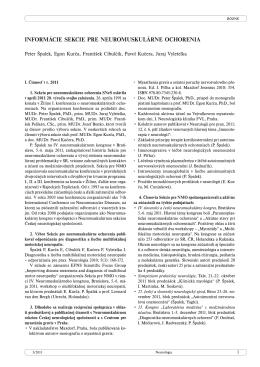 informácie sekcie pre neuromuskulárne ochorenia