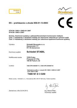Schiedel STABIL T400 N1 D 3 G50
