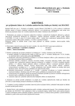Stredné odborné učilište poľnohospodárske, 094 35 Čaklov