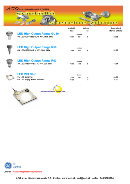 LED High Output Range GU10 LED High Output Range R50 LED