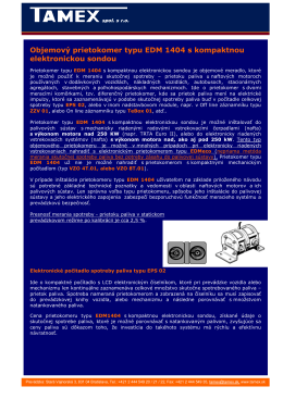 Objemový prietokomer typu EDM 1404 s