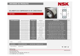 Informe de Produto NSK - FIP027
