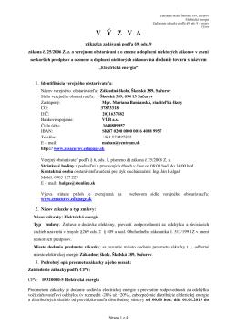 Výzva elektrina - Základná škola, Školská 389, Sačurov