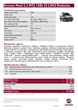 Ducato Maxi 2,3 MTJ 130k 35 L4H2 Dodavka