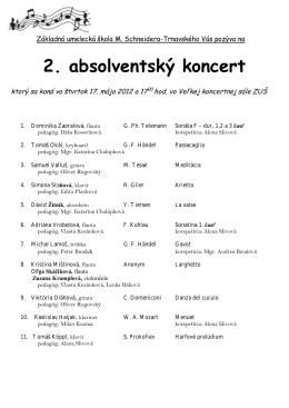 2. absolventský koncert