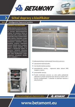 Sčítač dopravy a klasifikátor
