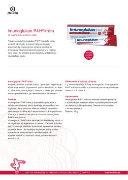 Imunoglukan P4H® krém