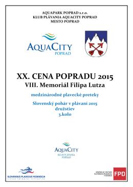 XX. CENA POPRADU 2015