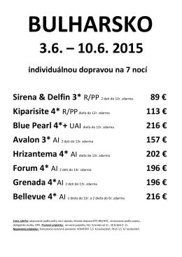 Sirena & Delfin 3* R/PP 2 deti do 12r. zdarma 89 € 113