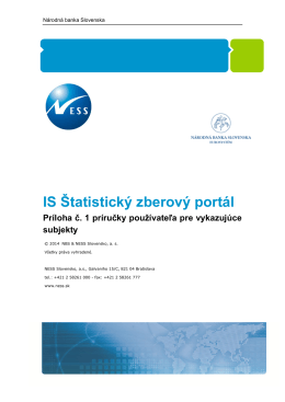 IS Štatistický zberový portál - ŠZP