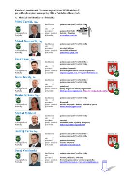 Miloš Černák, Ing. Matúš Ganzarčík, Ing. Ján Gréner