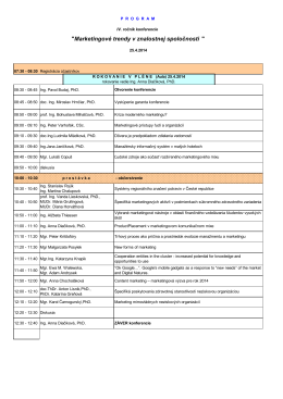 Program - Konferencie