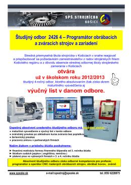 Poster_ Programátor - Stredná priemyselná škola Košice