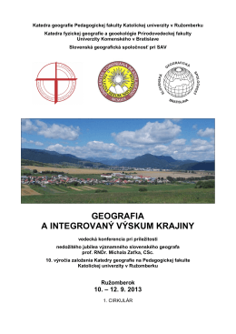 1. cirkulár - Slovenská geografická spoločnosť