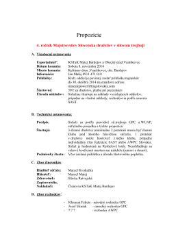 Propozicie PWL Extraliga 2014