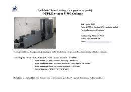 Duplo system 3500 Collator